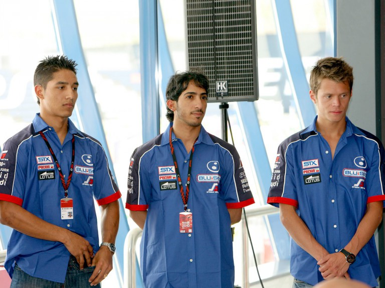 Yonni Hernández, Al Naimi and Rabat at the Blusens-STX presentation in Jerez