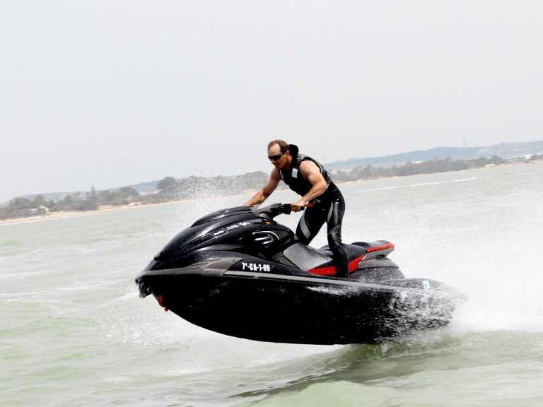 Colin Edwards on jetskis at Puerto de Santa María
