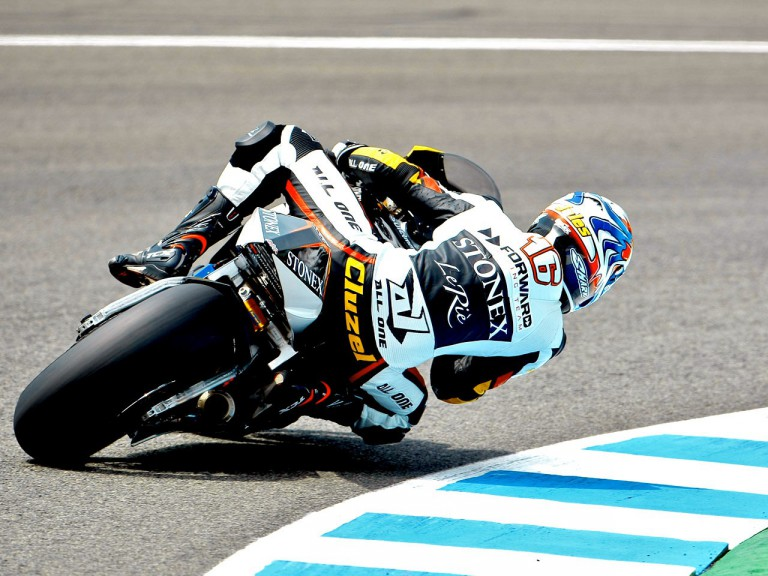 Jules Cluzel in action in Jerez