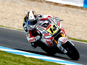 Randy de Puniet in action in Jerez