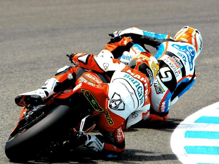 Di Meglio and Hernandez in action in Jerez