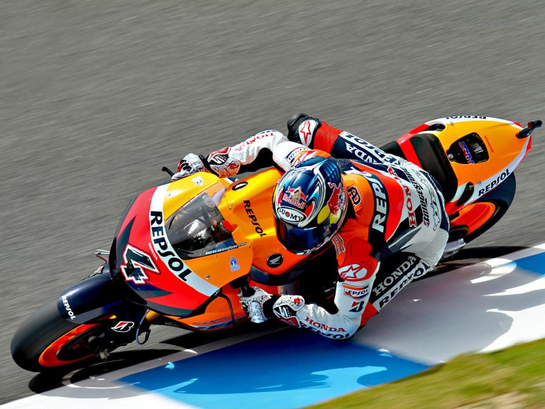 Andrea Dovizioso in action in Jerez