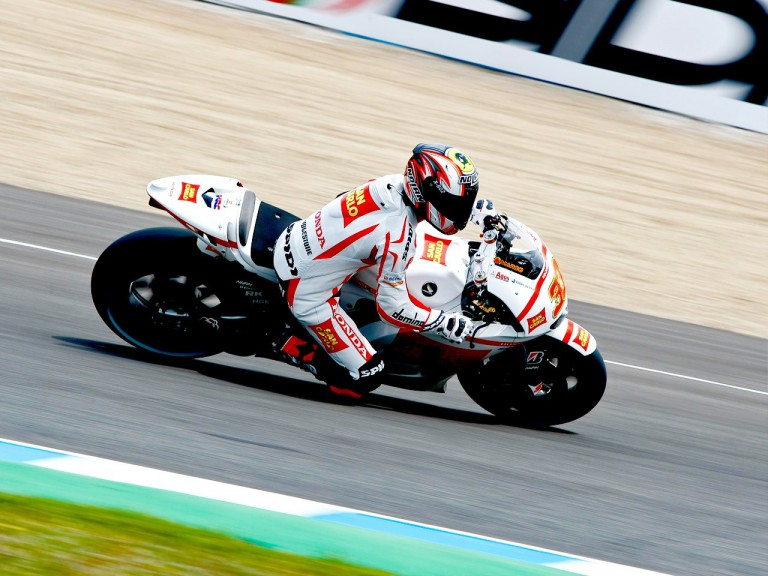 Marco Melandri in action in Jerez