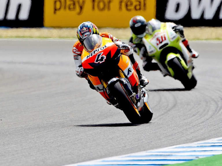 Dovizioso riding ahead of Kallio in Jerez