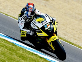 Colin Edwards in action in Jerez