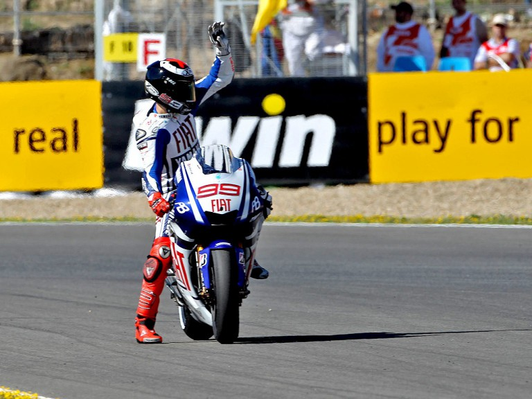 Jorge Lorenzo after QP in Jerez