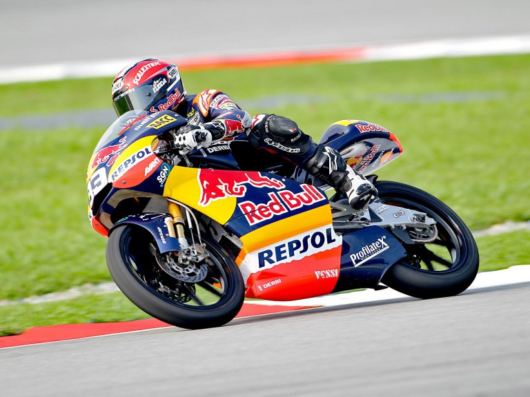 Marc Márquez in action at Sepang