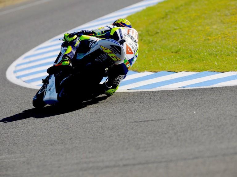 Valentino Rossi in action in Jerez