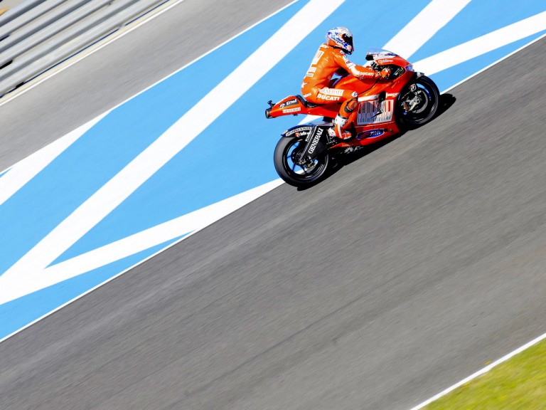 Casey Stoner on track in Jerez