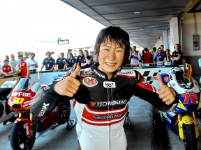 Shoya Tomizawa after the QP in Jerez