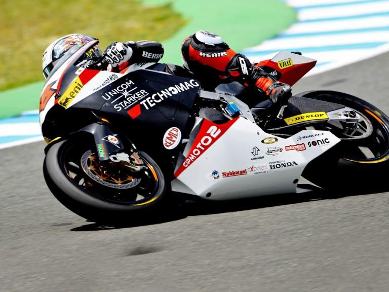 Shoya Tomizawa in action in Jerez