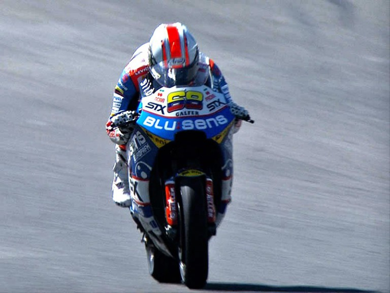 Yonny Hernández in action during FP2 in Jerez