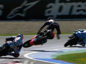 Jerez 2010 125cc Race Action Marc Marquez Crash