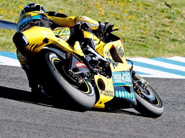 Héctor Barberá in action in Jerez