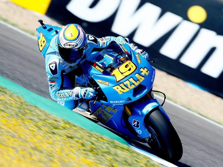 Alvaro Bautista in action in Jerez