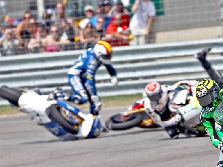 Alex Debon crashes at Indianapolis