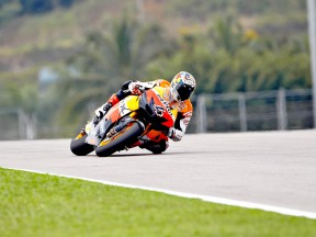 Andrea Dovizioso in action at Sepang