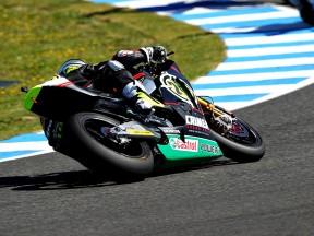 Toni Elias in action in Jerez