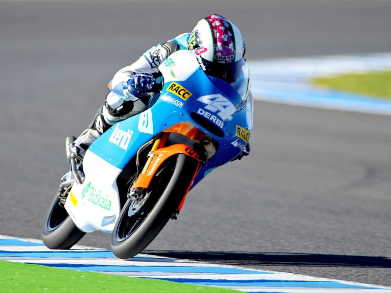 Pol Espargaró in action in Jerez
