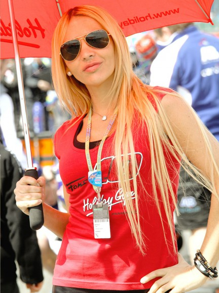 Paddock Girls at the AirAsia British Grand Prix