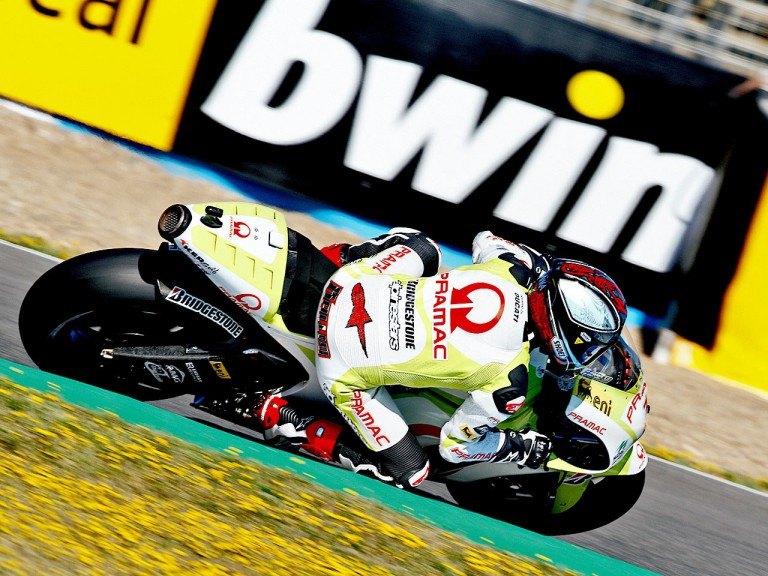 Mika Kallio in ation in Jerez