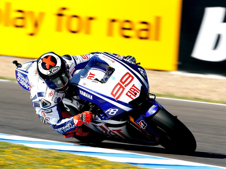 Jorge Lorenzo in action in Jerez