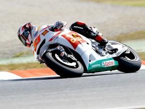 Marco Melandri on track
