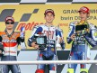 Pedrosa, Lorenzo and Rossi on the podium in Jerez