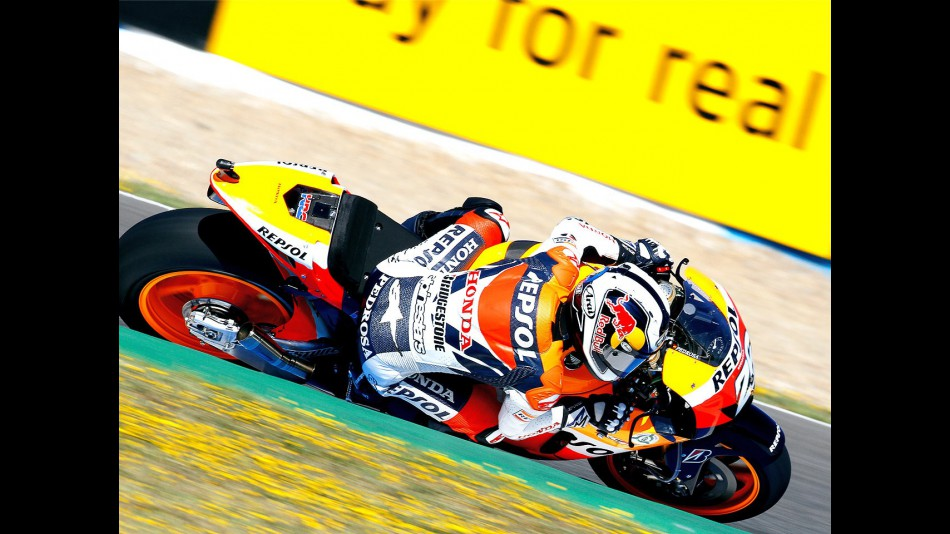 Dani Pedrosa in action in Jerez