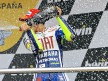 Valentino Rossi on the podium in Jerez