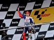 Jorge Lorenzo on the podium in Jerez