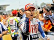 Jorge Lorenzo at  the parc fermé after the race in Jerez
