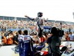 Jorge Lorenzo celebrates with fans GP win in Jerez