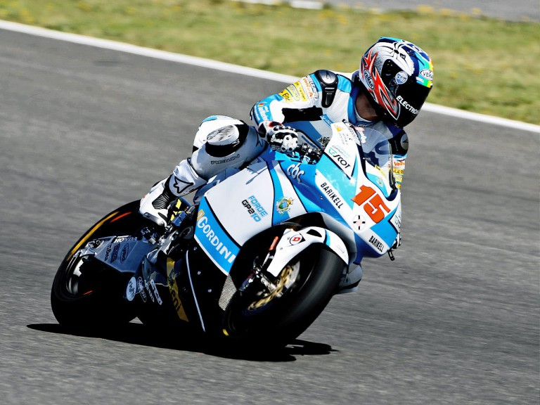 Alex de Angelis in action in Jerez