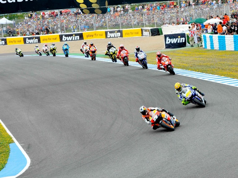 MotoGP Group in action in Jerez