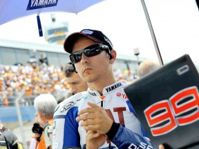 Jorge Lorenzo at the starting grid in Jerez