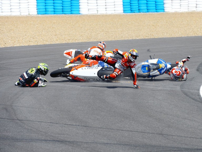 Moto2 Crash during the race in Jerez