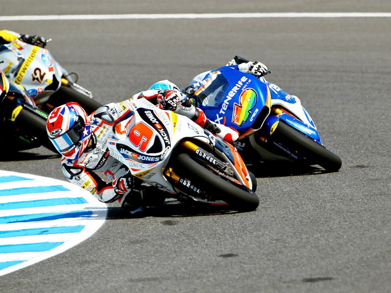 Kenny Noyes in action in Jerez
