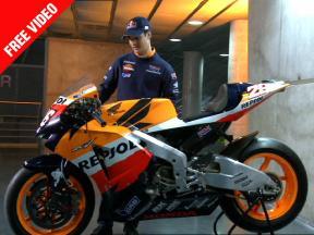 Dani Pedrosa's five Repsol Honda bikes