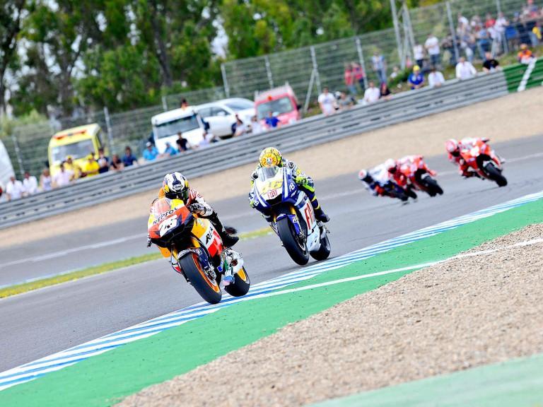 MotoGP action in Jerez