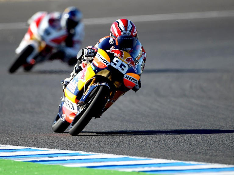 Marc Marquez in action in Jerez