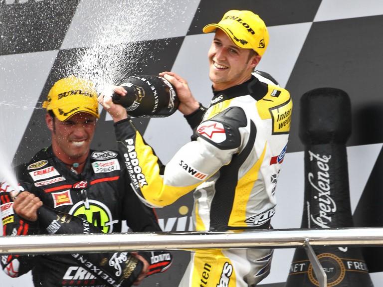 Elias and Luthi on the podium in Jerez