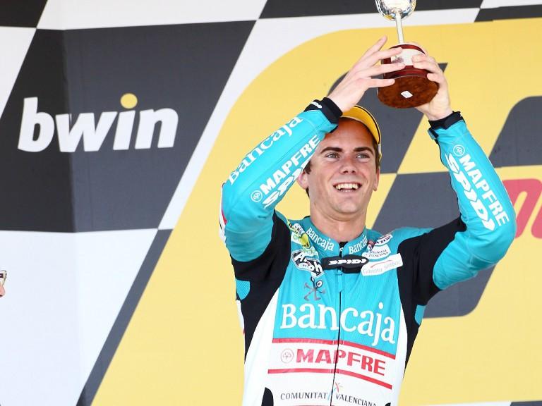 Nico Terol on the podium in Jerez