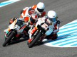 Khairuddin Zulfahmi riding ahead of 125cc group in Jerez