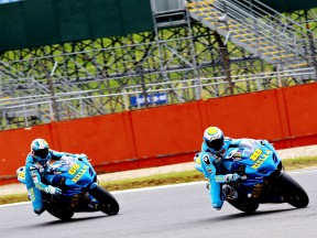 Bautista and Capirossi at the Silvertone Circuit