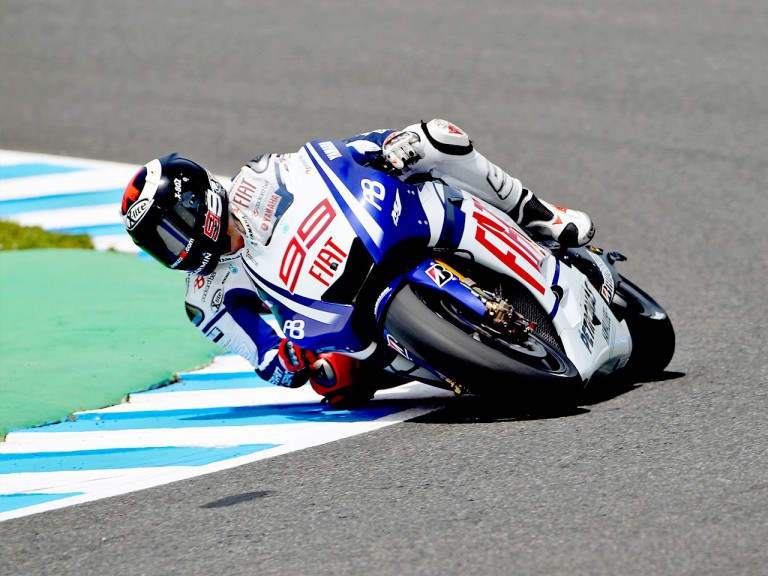 Jorge Lorenzo on track