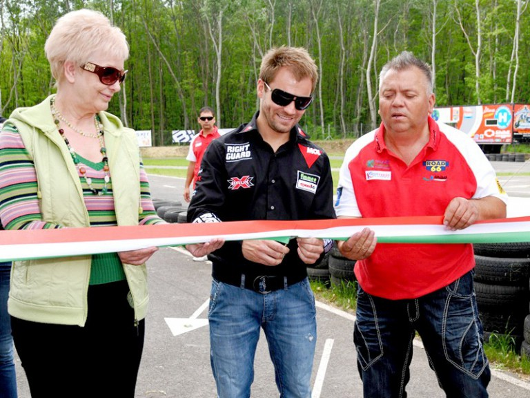 Gabor Talmacsi at the Talmacsiring Circuit inauguration