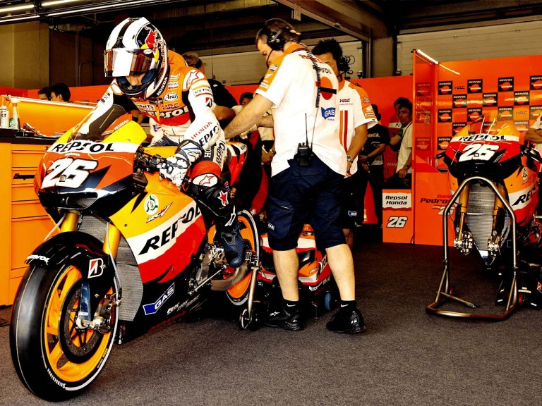 Dani Pedrosa leaving Repsol Honda garage
