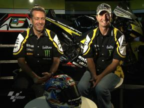 A chat with Monster Yamaha Tech 3 Colin Edwards and team manager Hervé Poncharal