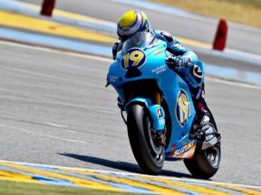 Alvaro Bautista in action in Le Mans